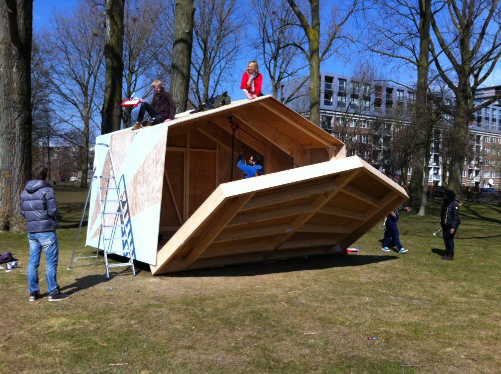 Buurtpodium Waterlandplein in Amsterdam, foto: Placemakers